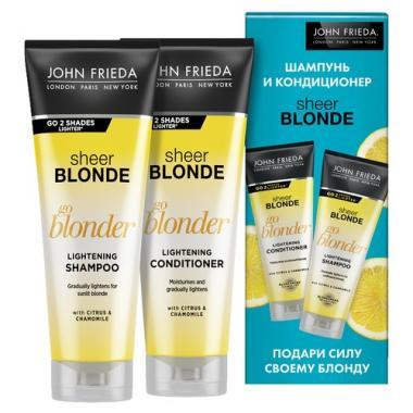 Набор Сияющий Блонд Sheer Blonde Go Blonder Оствеляюший шампунь 250 мл и Осветляющий кондиционер 250мл Арт. Jfset0001